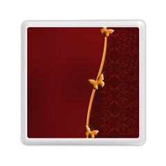 Greeting Card Invitation Red Memory Card Reader (square)