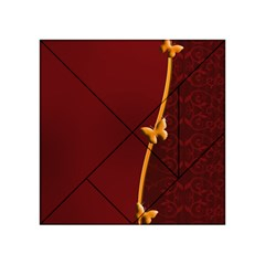 Greeting Card Invitation Red Acrylic Tangram Puzzle (4  x 4 )