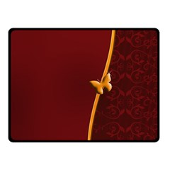 Greeting Card Invitation Red Double Sided Fleece Blanket (Small)