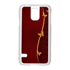 Greeting Card Invitation Red Samsung Galaxy S5 Case (White)