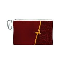 Greeting Card Invitation Red Canvas Cosmetic Bag (s)