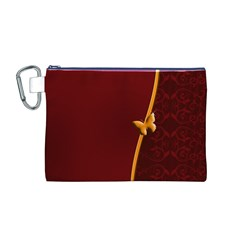 Greeting Card Invitation Red Canvas Cosmetic Bag (M)