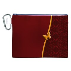 Greeting Card Invitation Red Canvas Cosmetic Bag (xxl)