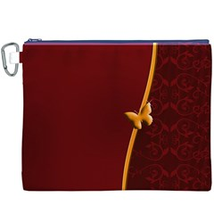 Greeting Card Invitation Red Canvas Cosmetic Bag (xxxl)