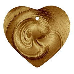 Gold Background Texture Pattern Ornament (Heart)