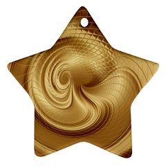 Gold Background Texture Pattern Ornament (star)