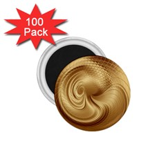 Gold Background Texture Pattern 1.75  Magnets (100 pack)
