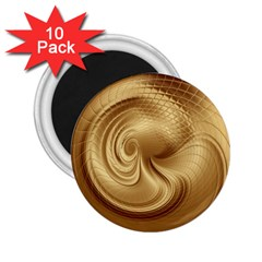 Gold Background Texture Pattern 2.25  Magnets (10 pack)