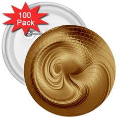 Gold Background Texture Pattern 3  Buttons (100 pack)