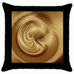 Gold Background Texture Pattern Throw Pillow Case (Black)