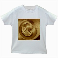 Gold Background Texture Pattern Kids White T-Shirts