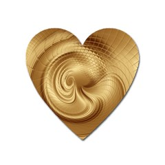 Gold Background Texture Pattern Heart Magnet