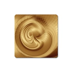 Gold Background Texture Pattern Square Magnet