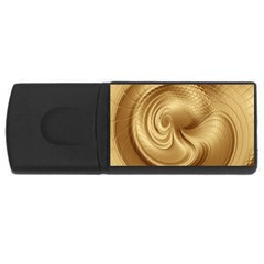 Gold Background Texture Pattern USB Flash Drive Rectangular (1 GB)