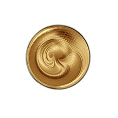 Gold Background Texture Pattern Hat Clip Ball Marker (4 Pack)