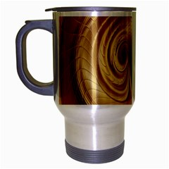 Gold Background Texture Pattern Travel Mug (Silver Gray)