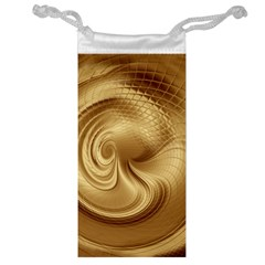 Gold Background Texture Pattern Jewelry Bag