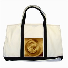 Gold Background Texture Pattern Two Tone Tote Bag