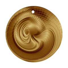 Gold Background Texture Pattern Round Ornament (Two Sides)