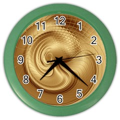 Gold Background Texture Pattern Color Wall Clocks