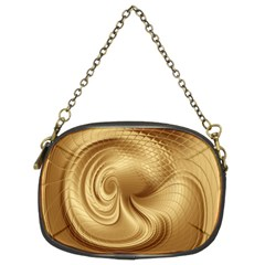 Gold Background Texture Pattern Chain Purses (Two Sides)