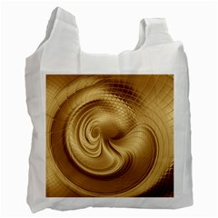 Gold Background Texture Pattern Recycle Bag (Two Side)