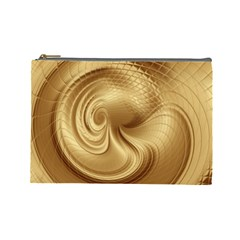 Gold Background Texture Pattern Cosmetic Bag (Large)