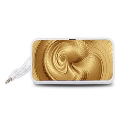 Gold Background Texture Pattern Portable Speaker (White)