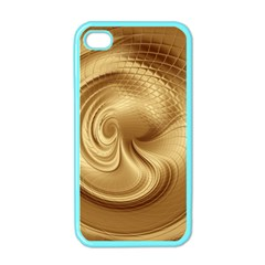 Gold Background Texture Pattern Apple iPhone 4 Case (Color)