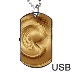 Gold Background Texture Pattern Dog Tag USB Flash (Two Sides)