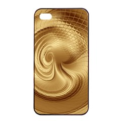 Gold Background Texture Pattern Apple iPhone 4/4s Seamless Case (Black)