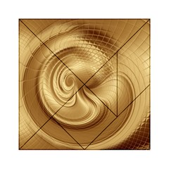 Gold Background Texture Pattern Acrylic Tangram Puzzle (6  x 6 )