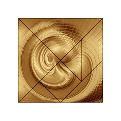 Gold Background Texture Pattern Acrylic Tangram Puzzle (4  X 4 )