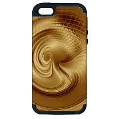Gold Background Texture Pattern Apple iPhone 5 Hardshell Case (PC+Silicone)