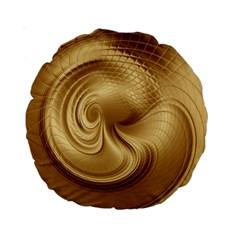Gold Background Texture Pattern Standard 15  Premium Round Cushions