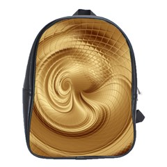 Gold Background Texture Pattern School Bags (XL)