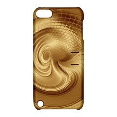 Gold Background Texture Pattern Apple iPod Touch 5 Hardshell Case with Stand