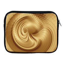 Gold Background Texture Pattern Apple iPad 2/3/4 Zipper Cases