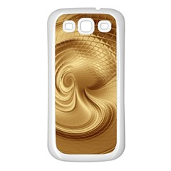 Gold Background Texture Pattern Samsung Galaxy S3 Back Case (white)