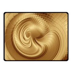 Gold Background Texture Pattern Double Sided Fleece Blanket (Small)