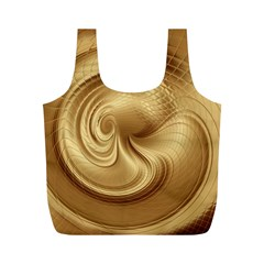 Gold Background Texture Pattern Full Print Recycle Bags (M)