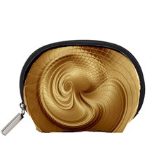 Gold Background Texture Pattern Accessory Pouches (Small)