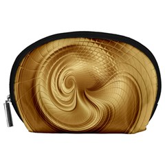 Gold Background Texture Pattern Accessory Pouches (Large)
