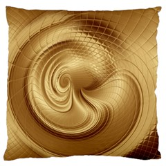 Gold Background Texture Pattern Large Flano Cushion Case (One Side)