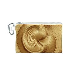 Gold Background Texture Pattern Canvas Cosmetic Bag (S)