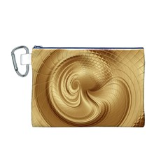 Gold Background Texture Pattern Canvas Cosmetic Bag (M)