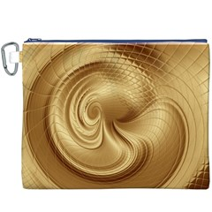 Gold Background Texture Pattern Canvas Cosmetic Bag (XXXL)