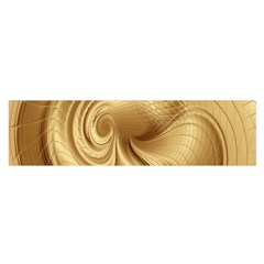 Gold Background Texture Pattern Satin Scarf (oblong)