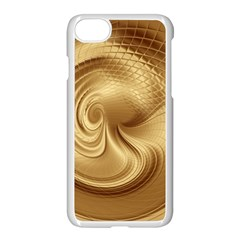 Gold Background Texture Pattern Apple Iphone 7 Seamless Case (white)