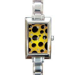 Background Design Random Balls Rectangle Italian Charm Watch